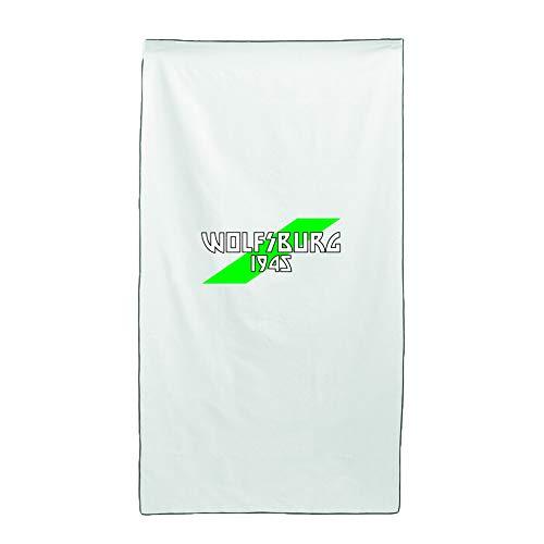 Tipolitografia Ghisleri Handtuch, Strandtuch Handtuch weiß Flagge Wolfsburg 70 x 140 cm