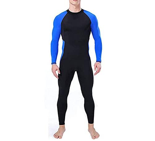 WODETIAN Trajes de Neopreno para Hombres Mujeres Neopreno 3mm Cuerpo Completo Piel Deportiva Traje de Buceo para Buceo Snorkeling Natación Chaqueta de Buceo Traje para Surfear,Negro,S
