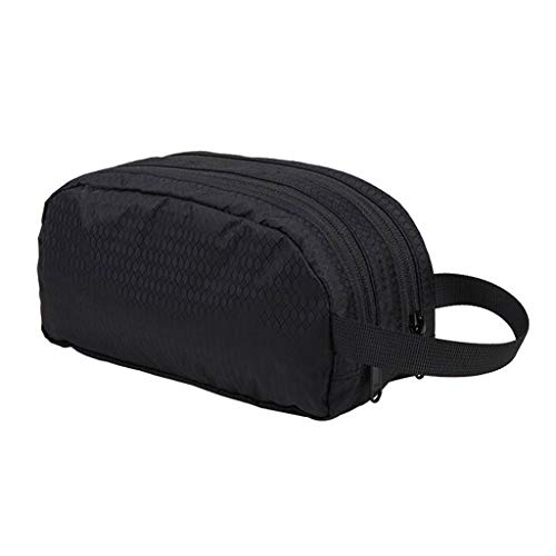 Séparation sèche et humide Sac cosmétique Stockage étanche Grande capacité Extérieure Multi-fonction Portable Simple Travel Wash Universal 2 Couleur 22 * ​​9 * 11 cm MUMUJIN ( Color : Black )