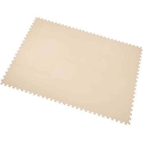 Yostrong Schutzmatten Set Puzzlematte Boden Schutz Matte - 24 Puzzle Bodenschutzmatten Unterlegmatte | spielmatte Baby | Fitnessmatte. Beige. YC-Jb24N