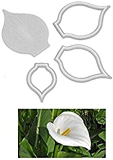S.Han Fondant Plastic Cutters Arum Lily Flower Patchwork Cake Decoration Tool Baking Clay Art Craft