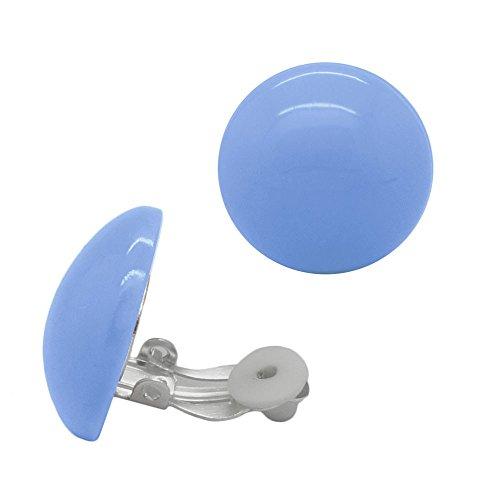 SoulCats 1 paio di orecchini a clip in plastica in molti colori e sfumature pastello
