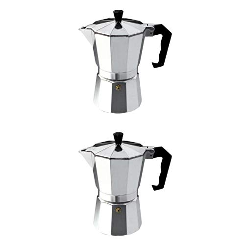 joyMerit 9 Cup & 6 Cup Stainless Steel Espresso Coffee Maker Latte Percolator Stovetop Coffee Pot, Best Gift for Coffee Lover