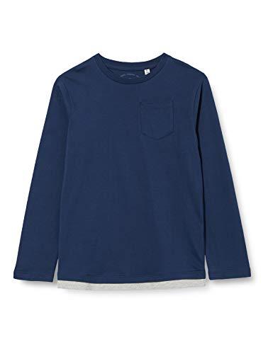TOM TAILOR Jungen Langarmshirt T-Shirt, Dress Blues|Blue, 152