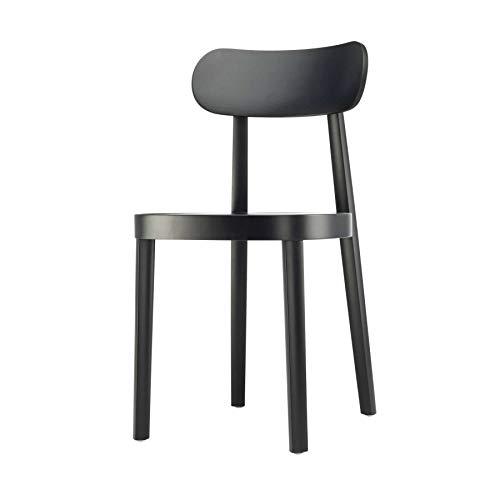 Thonet 118 M Stuhl mit Muldensitz - schwarz