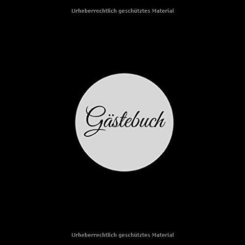 Gästebuch: für Hotel, AirBnB, Ferienwohnung, Bed an Breakfast, Gästehaus | schwarz | 200 S. |...