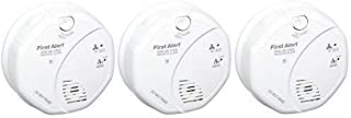 First Alert SCO5CN Combination Smoke and Carbon Monoxide Alarm, Battery Operated-3 Pack, Pack of 3