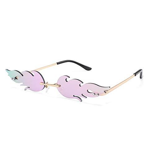 Qilo Llama Forma Gafas de Sol de Las Mujeres de la Vendimia Gafas de Sol de los vidrios Femeninos (Color : Style f)