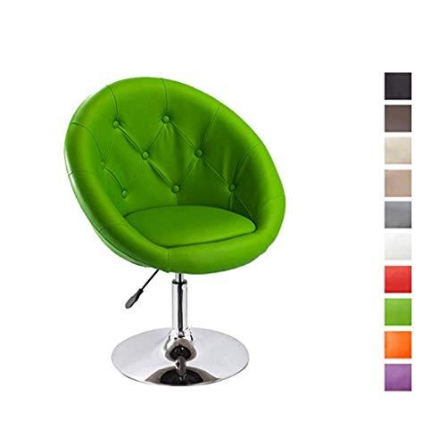 Modernes Design Akzent Stuhl Freizeit Single Sofa Stuhl Computer Stuhl Schlafzimmer Stuhl Drehstuhl Lift Nail Chair - rot (Color : F)