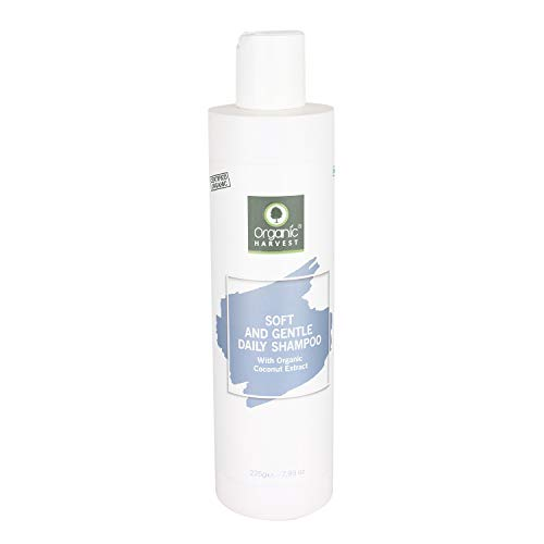 Organic Harvest Daily Shampoo for Women, Girls, Men | Best Organic Shampoo | Mineral Oil, Sulphate, Paraben & chemical free (225ML, Gentle Daily Shampoo)
