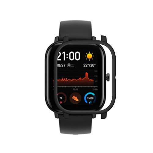 Kompatible für Xiaomi Huami Amazfit GTS Uhr Hülle, Case PC Schutzhülle Ultra-Slim Schutz Ersatz Uhrengehäuse Abdeckung Shell Frame Protector (Schwarz)