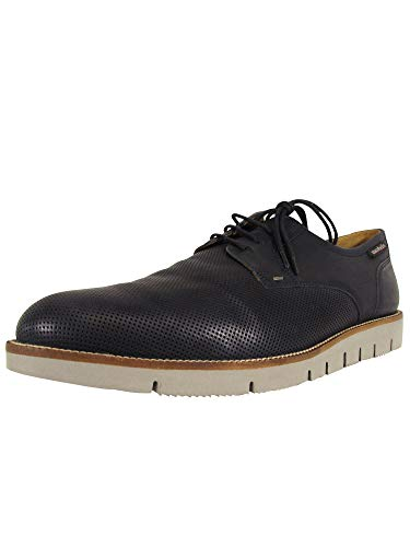 Mobils Ergonomic Mens Perino Perf Lace Up Oxford Shoes, Navy, US 10