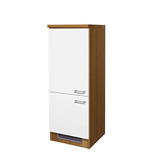 Flex-Well Kühlschrankumbauschrank COSMO - Umbauschrank - 2-türig - Breite 60 cm - Weiß