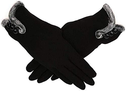 PXX Handschuhe Frauen-Winter-Mode-Handschuhe Cashmere Warmhalte Fahren volle Finger-Handschuhe Dame-eleganten Touch-Screen-Handschuh