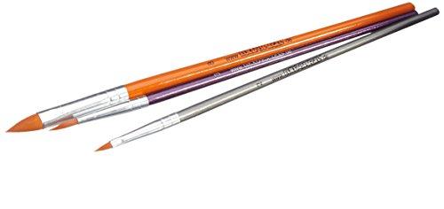 Eulenspiegel 955512 - Profi-Pinselset, Rundpinsel Größe 3, Katzenzungenpinsel Größe 2 und 8