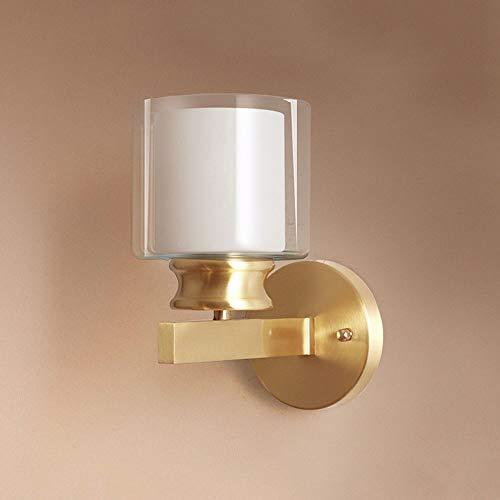 Kupfer Wandleuchte Glasschatten Moderne Wandleuchte, amerikanische Stil Badezimmer Waschtisch Wand Lampen Lampen Wohnzimmer Schlafzimmer Nachttisch Waschbeleuchtung Indoor Beleuchtungsvorrichtungen