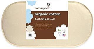 "Naturepedic Organic Cotton Bassinet Mattress (Oval - 14"" x 29"" x 1.5"")"