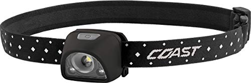 Coast FL1R 200 Lumen Dual Color (White/Red) Rechargeable LED Headlamp, Recharging Accessories Included