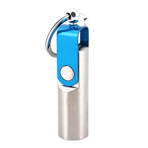 Portachiavi leggero e impermeabile, con nucleo in cotone, bottiglia per accendini per esterni, design creativo, (senza diesel)