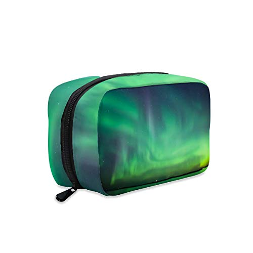 Northern Lights Over Lake Makeup Bag Zipper Pouch Travel Toiletry Bag Cosmetic Accessories Organizer Purse Large Portable for Women Girls