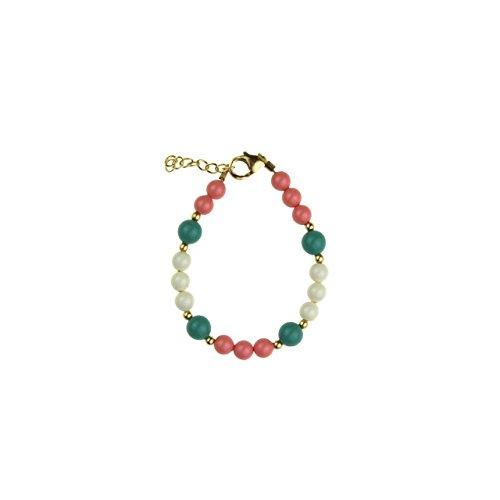 Mint &-Braccialetto elastico con perle, colore: rosa corallo
