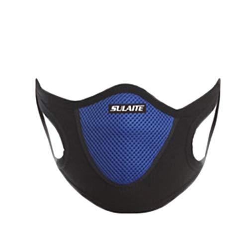 Staubmasken Atemschutzmasken, Dustproof Breathing Filtermaske Gesichtsmasken Staub-Maske für Partikel Stoff Aktivkohlefilter Mund Abdeckung Filter Mundschutz (Blau)