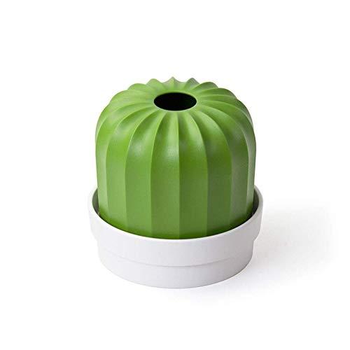 Z-Color Caja de Almacenamiento de Toalla de Papel Lindo Creativo, Caja de Almacenamiento de Toalla de Papel de Cactus de Cactus Mesa de Centro, Sala de Estar Decorada (Color : White)