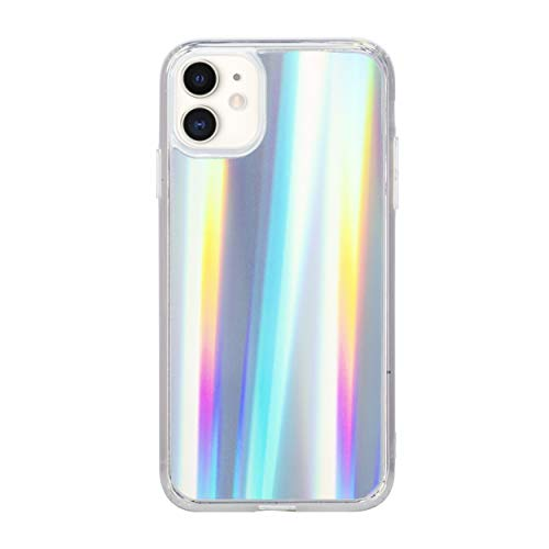HolaStar Case Compatible with iPhone 12/12 Pro, Rainbow Holographic Pattern Design Gradient Iridescent Effect Protective Hard Back and Soft Clear Edge Slim Thin Fit Cell Phone Cover