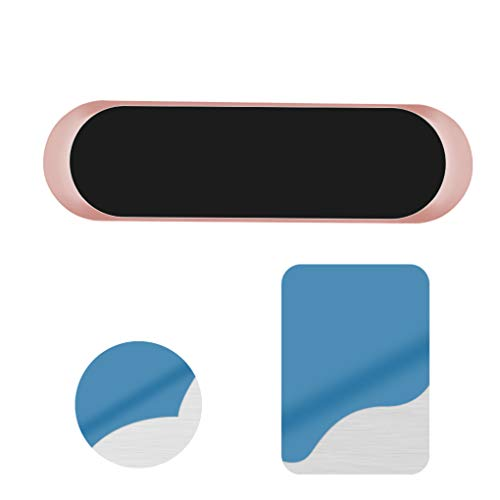 rongweiwang Soporte para teléfono salpicadero Adhesivo teléfono Adhesiva del teléfono móvil de aleación de Zinc del Soporte del Montaje, Ángulo Ronda, Oro
