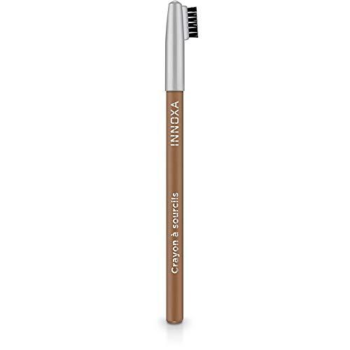 INNOXA - Crayon à Sourcils avec Brosse - Blond - Haute définition - Vegan - Combleur de Ligne