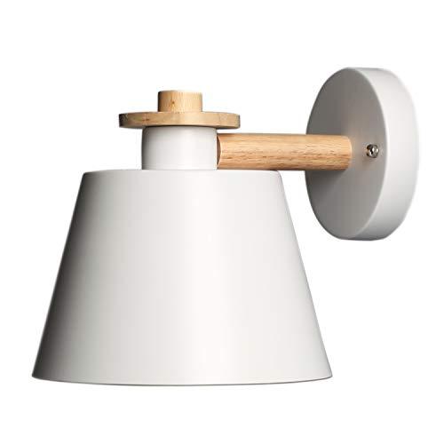 Moderno Apliques de Pared Lámpara Blanco Metal Industrial Retro Luz de Pared...