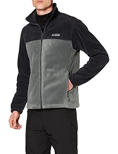Columbia Herren Steens Mountain Full Zip 2.0 Sweater Fleecejacke, Schwarz / Grill, 5X