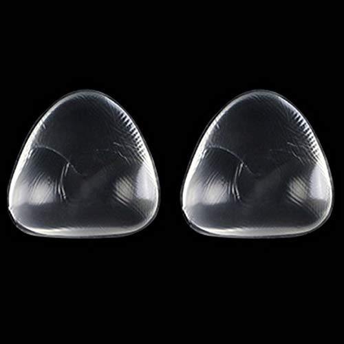 #N/V 1 par de almohadillas de gel de silicona para sujetador push-up para bikini, almohadillas extraíbles