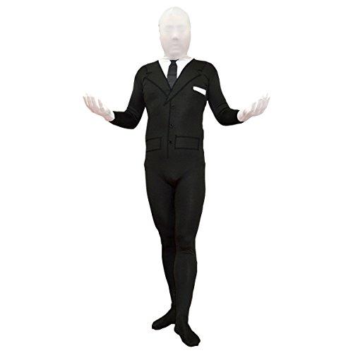 MyPartyShirt Slenderman - Disfraz para adulto (talla pequea), color negro