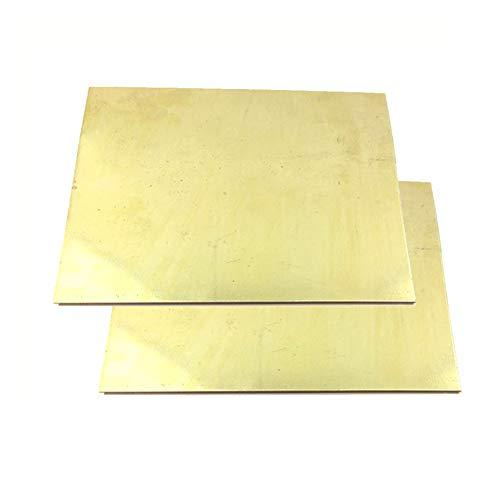 GOONSDS H62 Latón De Metal Delgada Lámina Metálica Placa 2Pcs Rollo Thickness0.5Mm,100mmx150mm