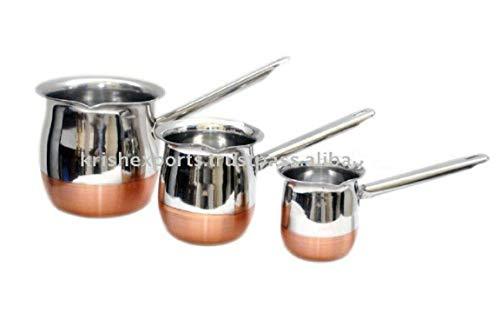 Vinod - Cafetera de acero inoxidable turco para derretir, capacidad: parte inferior de cobre 450 ml