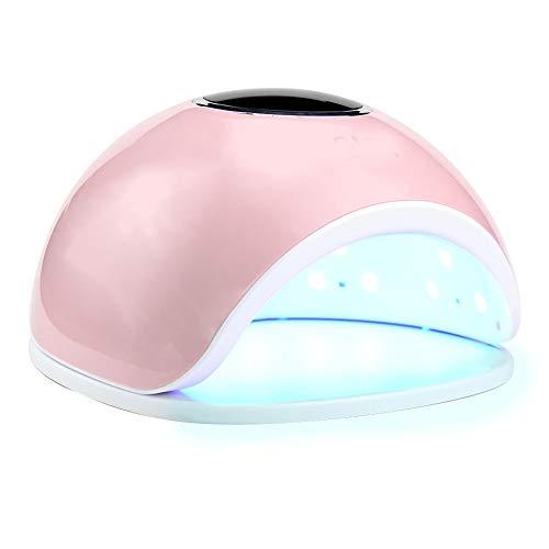 QWER Uñas secador del Clavo Inteligente de fototerapia Máquina 72w33 Grano de la lámpara Pantalla LCD Modo 4 sin Dolor Engranaje de sincronización,Rosado