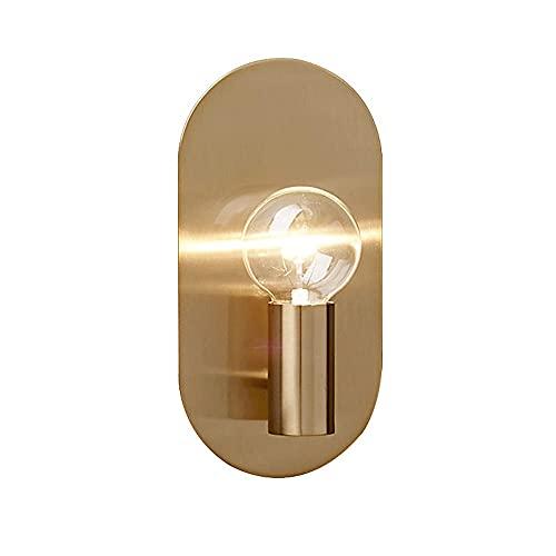 Simple oro cobre hierro lechón es robusto lámpara de pared duradera iluminación interior luces de pared Sistema incrustado Sconence E27 Base para dormitorios Casa de baño Comedor Balcón de escalera
