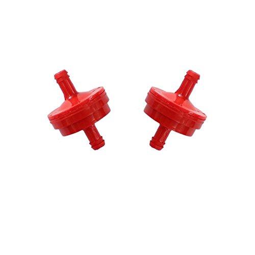 HiPa (2Stück) Kraftstofffilter für Briggs & Stratton Traktor-Motoren ohne Kraftstoffpumpen 298090298090S 410550185018b 5018H 5018K 395018