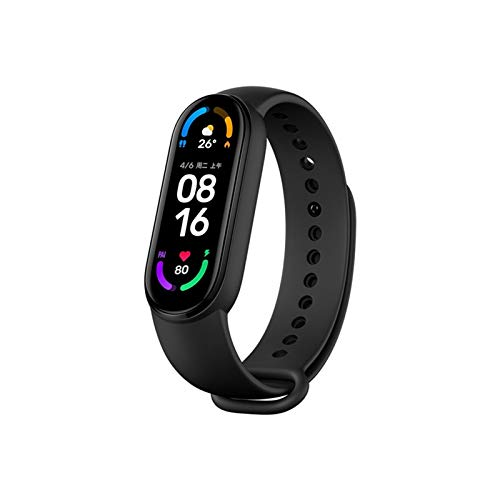 Xiaomi Mi Band 6 1.56 Inch Full Touch Screen Sport Wristband 24h Heart Rate Fitness Tracker 5ATM Waterproof Smart Band Bracelet Magnetic Charge Mi Smart Bracelet 6 Standard Version(Black)