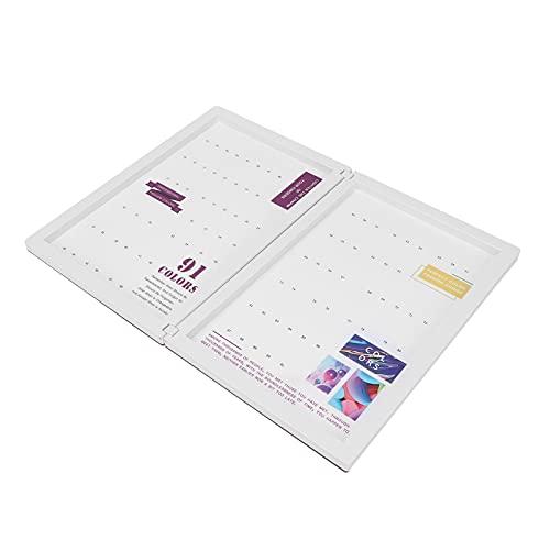 Carte d'affichage de couleur d'ongle, carte de couleur de gel d'ongle en plastique Portable léger pour les salons d'art d'ongle Manucure Pédicure pour l'affichage de travail de manucure