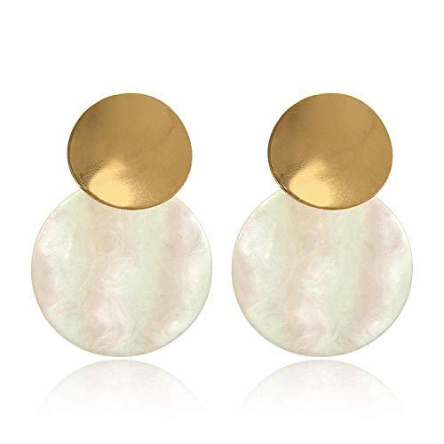 Pendientes para niñas, QWEA Pendientes acrílicos Pendientes grandes para mujer Pendientes geométricos cuadrados ovalados de resina Pendientes bohemios Joyas de regalo
