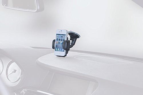 hr-imotion Universal Schwanenhals Kompakt Halterungslösung für alle Smartphones zwischen 59mm & 89mm Breite [5 Jahre Garantie   Made in Germany   vibrationsfrei] - 22010401 - 5