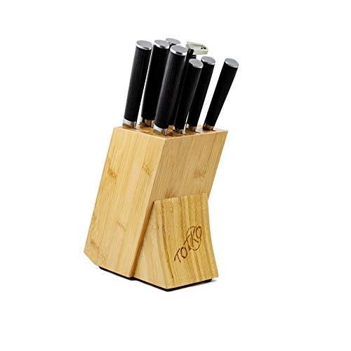 Totiko Japan Knives - Juego de Cuchillos de Cocina con Bloque bambú,...