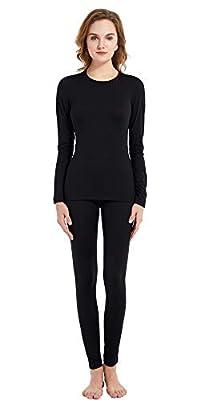 Women's 100% Merino Wool Thermal Underwear Long John Set 220g Base Layer Top and Bottom Warm Winter