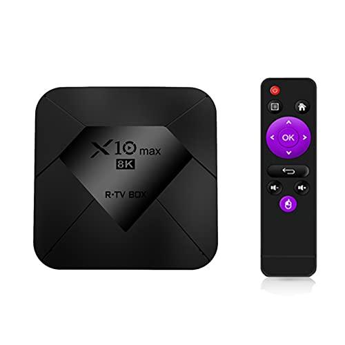 Android TV Box 9.0, la última versión de Android TV Box 2021 4GB RAM 32GB ROM, Amlogic S905X3 64-bit Quad Core Arm® Cortex ™ A55, Android Box 8K Ultra HD HDR, Smart TV Box,B:4G+128G