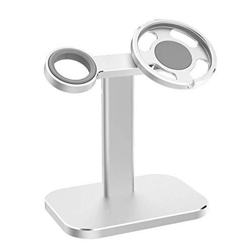 Soporte de carga para teléfono móvil para Magsafe, 2 en 1 soporte de carga magnética, escritorio,adecuado para soporte de carga de Apple Watch, compatible con iPhone 12 / Pro/Pro Max/Mini