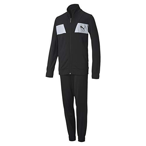 PUMA Jungen Trainingsanzug Poly Suit cl B, Puma Black, 140, 583252