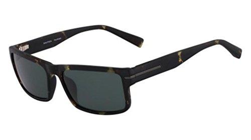 Nautica N6186S, injected Sonnenbrille Matte Olive Tortoise Unisex Erwachsene, mehrfarbig, Standard