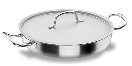 Lacor Chef Classic 50624 - Paellera con tapa, inoxidable, 24 cm